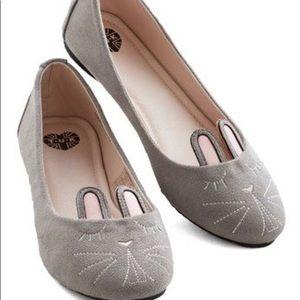 T.U.K Gray Bunny Flats